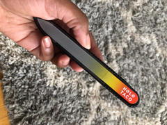 Holo Taco Glass Nail File - Red/Yellow Review