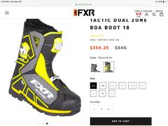 FXR Racing Tactic Dual Zone BOA Boot 18 Review