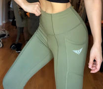 FIT ARMY Olive Green SUPER FLEX HIGH WAIST LEGGINGS With Pockets Review
