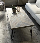 KONTRAST Herringbone Coffee Table KALASABA 'JACK' in a Chevron Driftwood finish with Hairpin legs Review
