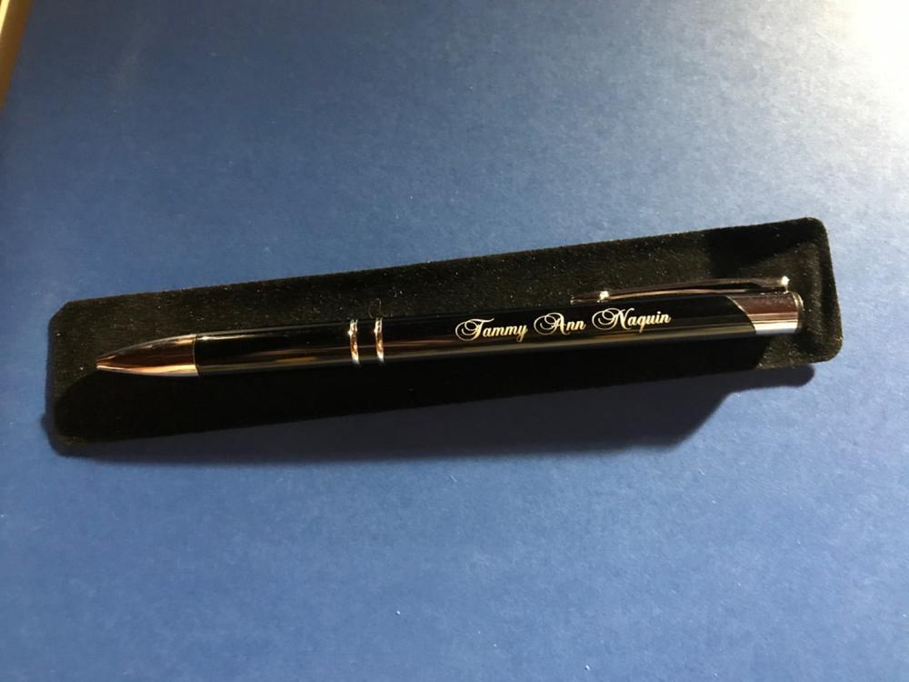 ORANGE ORDER PEN PERSONALISED GIFT WITH YOUR OWN NAME AND L.O.L NUMBER ENGRAVED