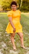By Iman Akilah Joyce Puff Sleeve Dress in Yellow Review