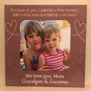 365Canvas Because of You Custom Message and Photo Canvas - Mother Daughter Photo Canvas Review