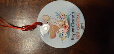 365Canvas Baby's First Christmas Deer Personalized Ornament Review