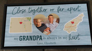 365Canvas Close Together Or Far Apart, My Grandpa Is Always In My Heart - State Map Canvas Print Review