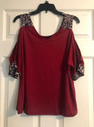Weslily.com Leopard Print V-neck Cold Shoulder Tops Review