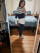 Weslily.com Striped Color Block Drawstring Hoodie Sweatshirt Review