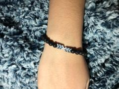 Kumi Oils Sacred Arrow Diffuser Bracelet-Silver/Black Review