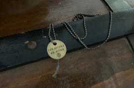 Maritime Supply Co PER ASPERA AD ASTRA Through Hardship To The Stars - Brass Coin Necklace Review