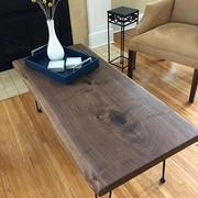 Artisan Born Live Edge Black Walnut coffee table, Walnut Bench Review