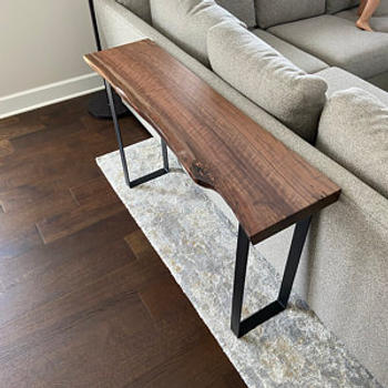 Artisan Born Live Edge Walnut Console Table - Any Size - Handmade Black Walnut Sofa Table, Mid Century Modern, FarmHouse, Vintage, Solid wood Review