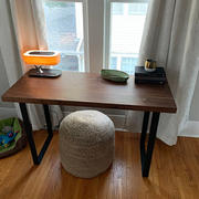 Artisan Born Solid Black Walnut narrow office desk Review