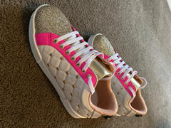 Augustine Brand Kriss Kross Sneaker Pink/Gold Hearts Review