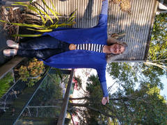Augustine Brand Royal Blue Merino Blend Cardi Review