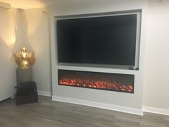 Modern Blaze Touchstone Emblazon Series Frameless Built-in Electric Fireplaces 50 - 134 Long Review
