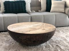 Notbrand Iron Drum Coffee Table (Coconut Coffee Table) Review