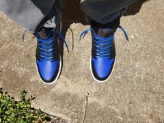 Lace Lab Royal Blue Luxury Leather Laces - Silver Plated Review