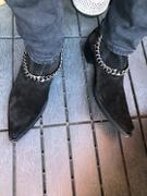 Ron Tomson Jasper Layered Chain Boots - Black Suede Review