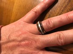 HappyLaulea Tungsten Carbide 8mm Ring with Hawaiian Koa Wood & White Opal Tri-Inlay - Dome Shape, Comfort Fitment Review
