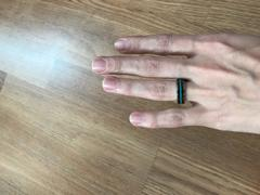 HappyLaulea Tungsten Carbide Ring Set with Hawaiian Koa Wood and Thin Mid-Strip Turquoise Inlay Review