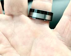 HappyLaulea Tungsten Carbide Ring with Ebony Gabon Wood Inlay Review