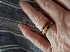 HappyLaulea Tungsten Carbide Ring with Koa Wood Inlay, 6mm, Dome Shape, Comfort Fitment Review