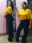 Madish Indigo Extreme Wide Leg High Waist Jeans Review