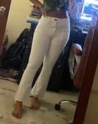 Madish Power Crop Bootcut White High Waist Jeans Review