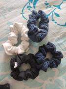 Madish Ruffled Multi Colour Mini Denim Scrunchies Review