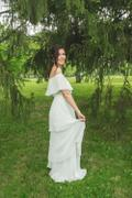Baltic Born Leslie White Tiered Pleated Maxi Review