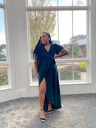 Baltic Born Andi Emerald Ribbed Velvet Wrap Dress Review