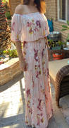 Baltic Born Delano Blush Floral Pleated Maxi Dress Review
