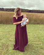 Baltic Born Victoria Mulberry Off Shoulder Maxi Dress Review