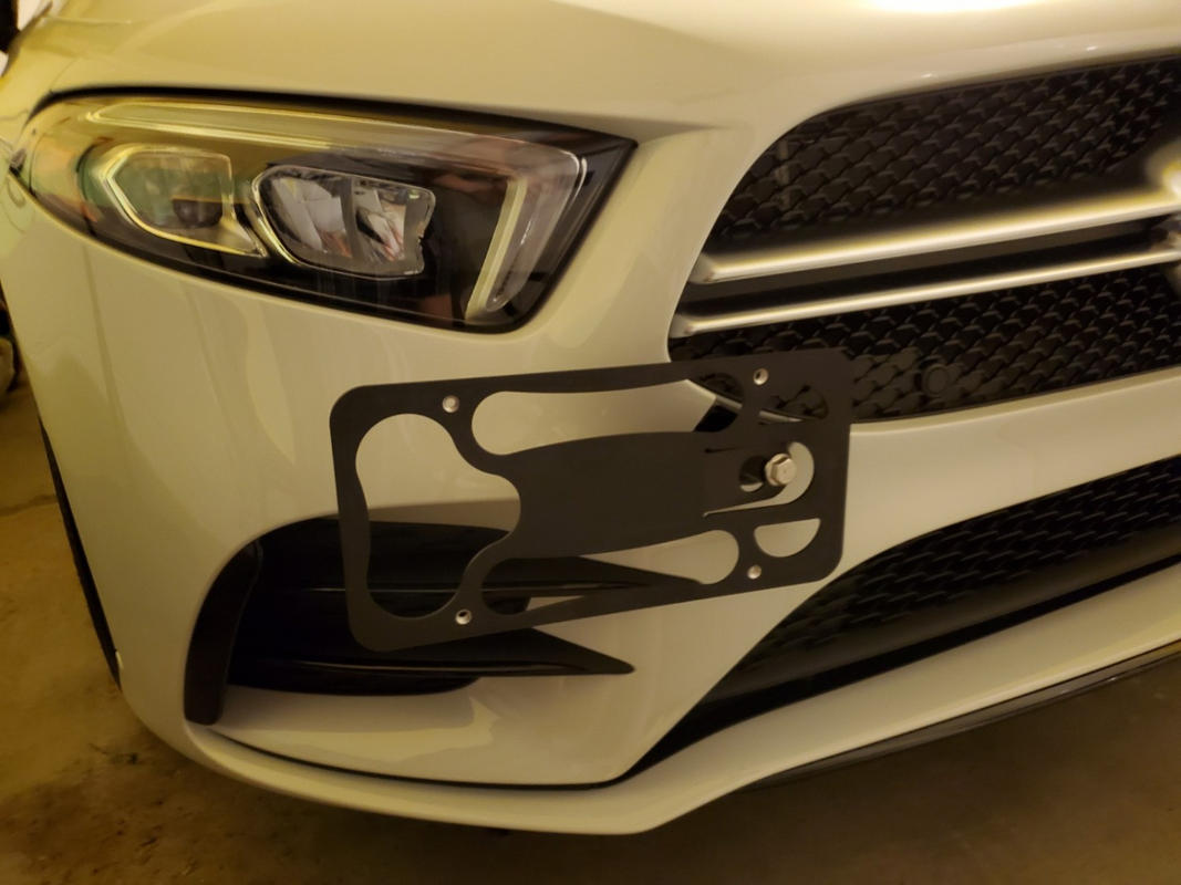 No Drilling 2016-2019 CravenSpeed The Platypus License Plate Mount for Mercedes Benz GLE Coupe Made of Stainless Steel /& Aluminum Made in USA Installs in Seconds