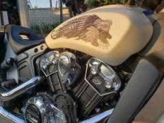 Brave Wolf Customs Azteca Indian Scout Fuel Tank Decal Set - Black and White Review