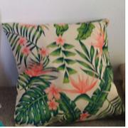 Hansel & Gretel Tropical Green and Pink Decorative Pillow Case Review