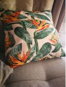Hansel & Gretel Tropical Green and Orange Decorative Pillow Case Review