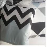 Hansel & Gretel Luxurious Black and Blue Decorative Pillow Case Review