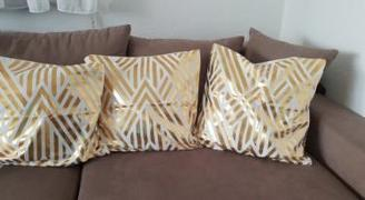 Hansel & Gretel Elegant White and Gold Decorative Pillow Covers Review