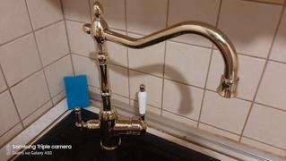 Hansel & Gretel Solid Brass Smooth Gold Kitchen Faucet Rotating and Water Purifying Review