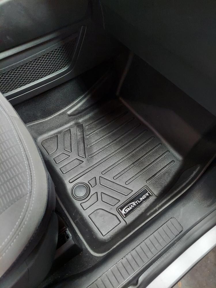 for Ranger Mk2 Black with Blue Trim Connected Essentials 5027235 Tailored Heavy Duty Custom Fit Car Mats Premium 2006-2012 Single Cab