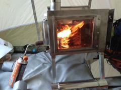 Russian-Bear.Market Small Wood Stove With Fire-Resistant Glass Caminus S. Review