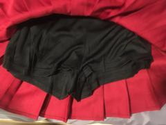 hoodstockexchange.com Solid High-Waisted Pleated Skirt - Black, Pink, White, Red, Blue Review