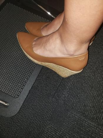 VISCATA Roses Leather Wedges - Whiskey Brown Review
