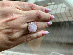 Stoned Hilda Raw Kunzite Silver Gemstone Ring Review