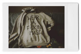 Wren + Glory 'MASK UP' PAINTED HOODIE Review