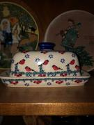 The Polish Pottery Outlet American Butter Dish (Blue Plume) Review