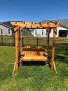 ThePorchSwingCompany.com TMP Outdoor Furniture Adirondack Red Cedar Porch Swing Review