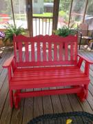 ThePorchSwingCompany.com A&L Furniture Co. Royal English Recycled Plastic Porch Glider Review