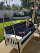 ThePorchSwingCompany.com Hershyway Days Ends Sofa Style Rope Recycled Plastic Daybed Swing Review